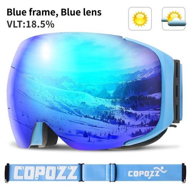 3f40b068b23 Товар Magnetic ski goggles New COPOZZ brand double layers UV400 anti ...