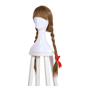 Image 2 - L email wig Halloween Doll Annabelle Cosplay Wigs 65cm Brown Straight Synthetic Hair Perucas Cosplay Wig