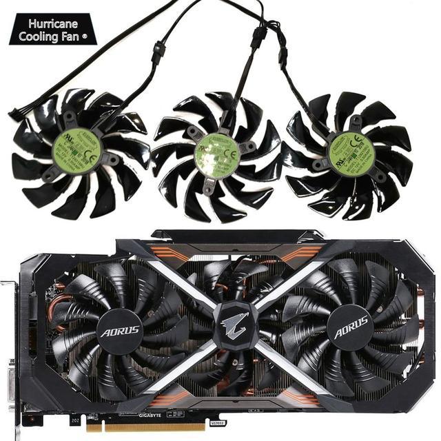 95 ミリメートル T129215BU DC 12V 0.55A PLD10015B12H GTX1070 GTX1080 ファンため GIGAYTE AORUS GeForce GTX 1080Ti エクストリーム版ビデオカードファン