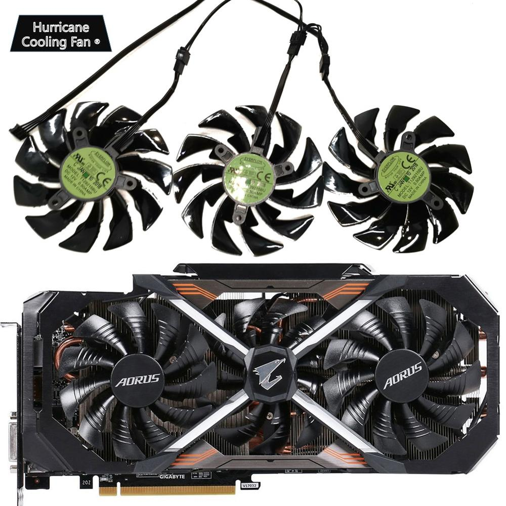 95mm T129215BU DC 12V 0.55A PLD10015B12H GTX1070 GTX1080 fan For GIGAYTE AORUS GeForce GTX 1080Ti Xtreme Edition Video Card fan-in Fans & Cooling from Computer & Office
