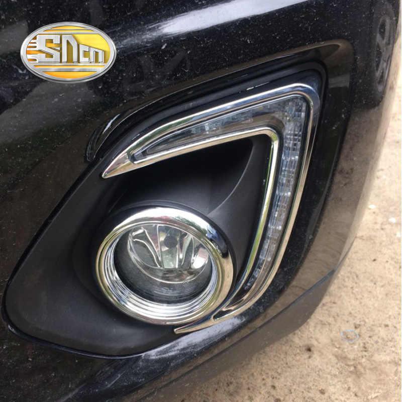 SNCN LED Daytime Running Lights for Mitsubishi ASX Outlander Sport 2013 2014 2015 12V ABS DRL Fog lamp cover driving lights