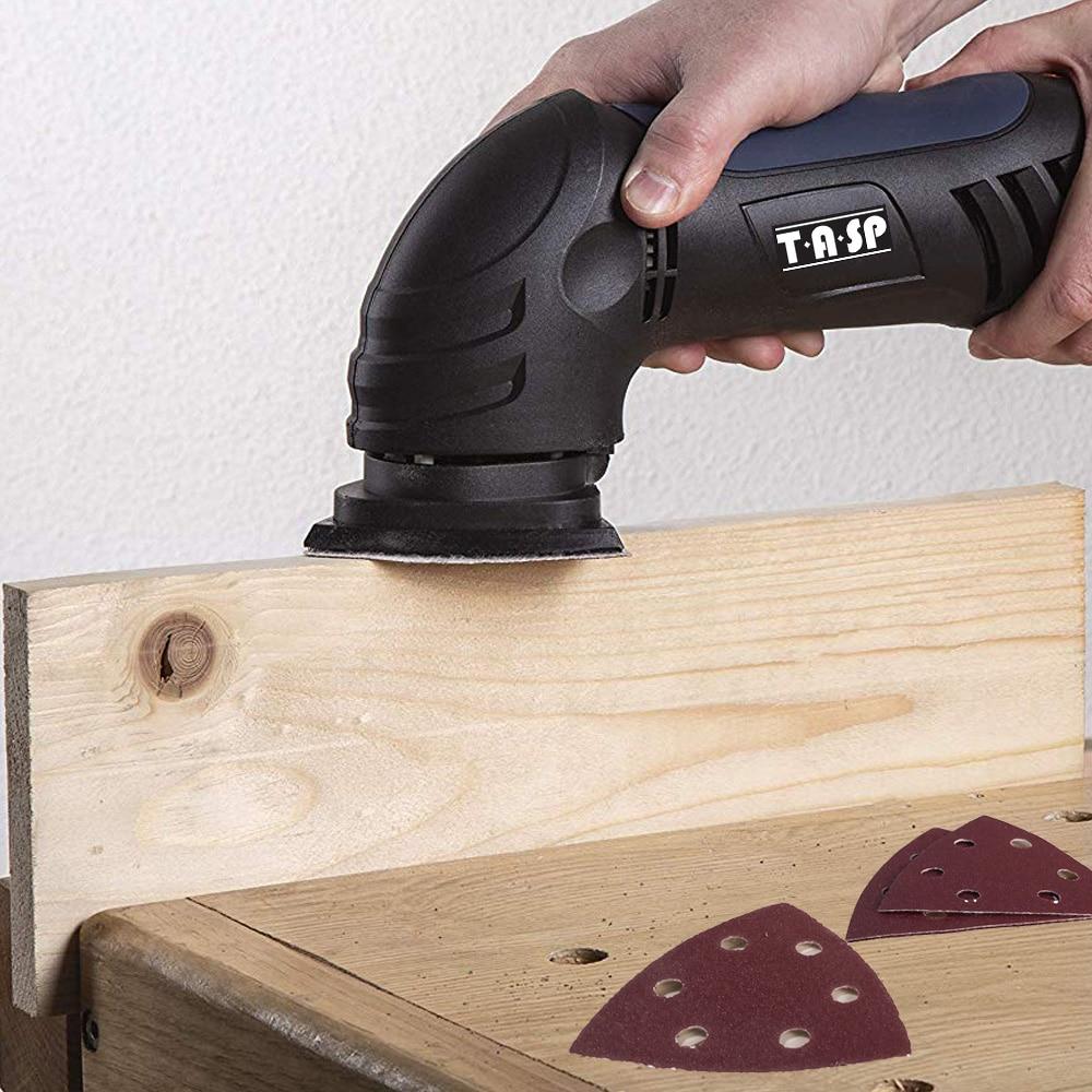 TASP 25pcs 93mm Papel de lija Delta Sander Disco Gancho y bucle Papel - Herramientas abrasivas - foto 6