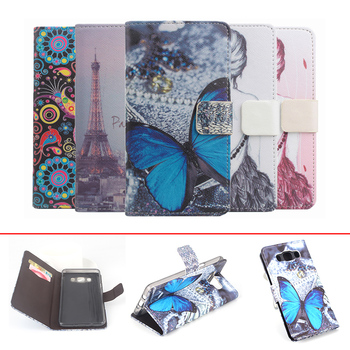 Butterfly Painted For Samsung Galaxy J5 2016 J510 Phone Case Luxury Leather Transverse Flip Covers For Samsung J5 2016 Cover