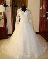 Sophoneiya Real Sample Long Sleeve Lace Wedding Dress 2017 Vintage Bridal Gowns Women Elegant China Wedding