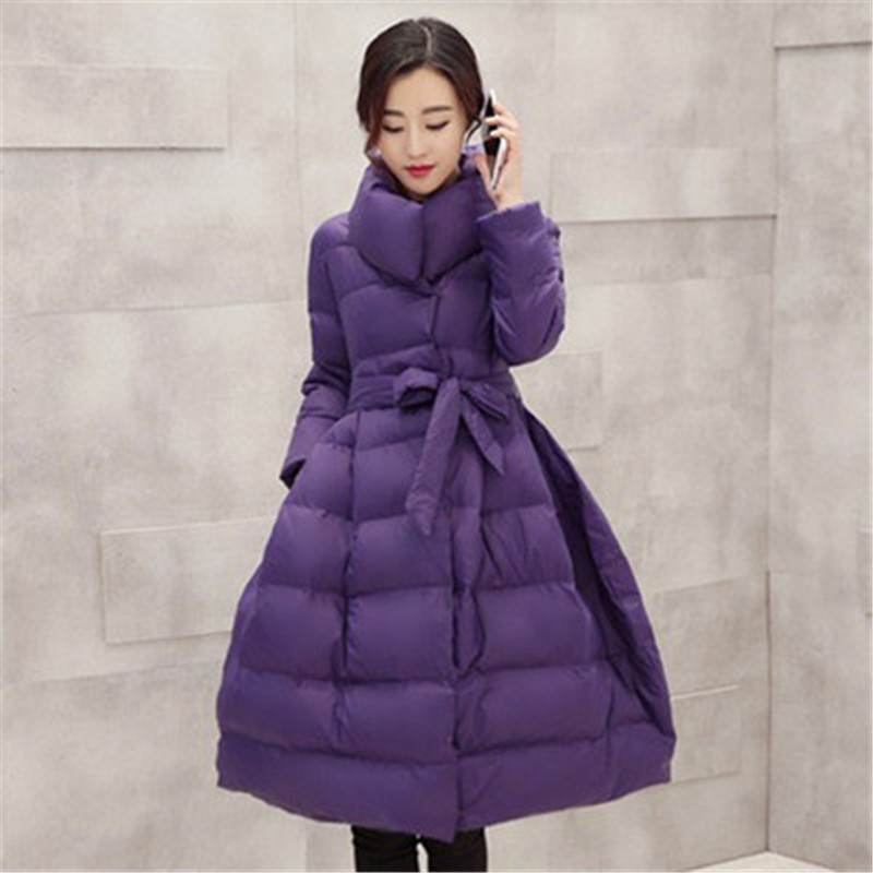 2019 NEW Womens Coat Winter Down Jackets Women Black Long Coat Silm Warm   Parkas   Outerwear Women's Clothing X979