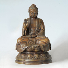 ATLIE BRONZES Buddha Statue Shakyamuni  Buddha Sculpture Buddhist Temple  Home Decoration Gifts BD-135