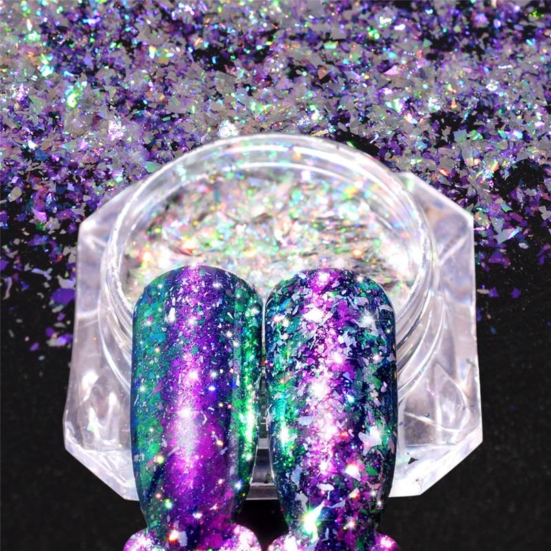 Schönheit & Gesundheit Zuversichtlich 1 Stücke Korallen Chameleon Nail Art Glitter Unregelmäßigen Paillette Pigment Pulver Holo Staub Maniküre Chrom Pulver Dekorationen Jibsz01-12 FüR Schnellen Versand Nagelglitzer