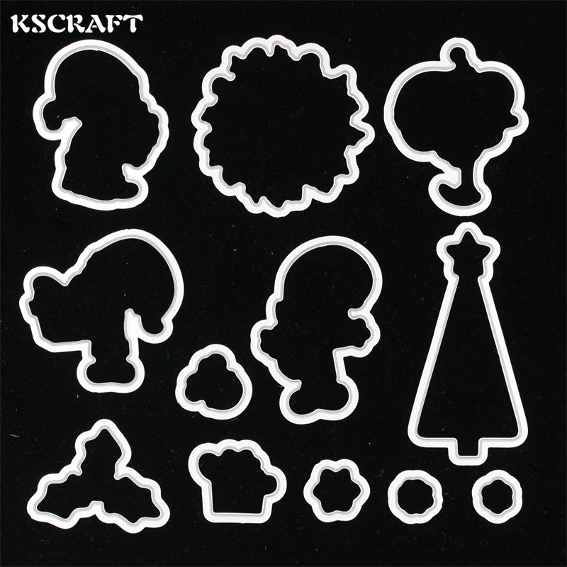 KSCRAFT Merry Christmas Transparent Clear Silicone Stamp Or Cutting Dies Set for DIY scrapbooking/photo album Decorative lovely animals and ballon design transparent clear silicone stamp for diy scrapbooking photo album clear stamp cl 278