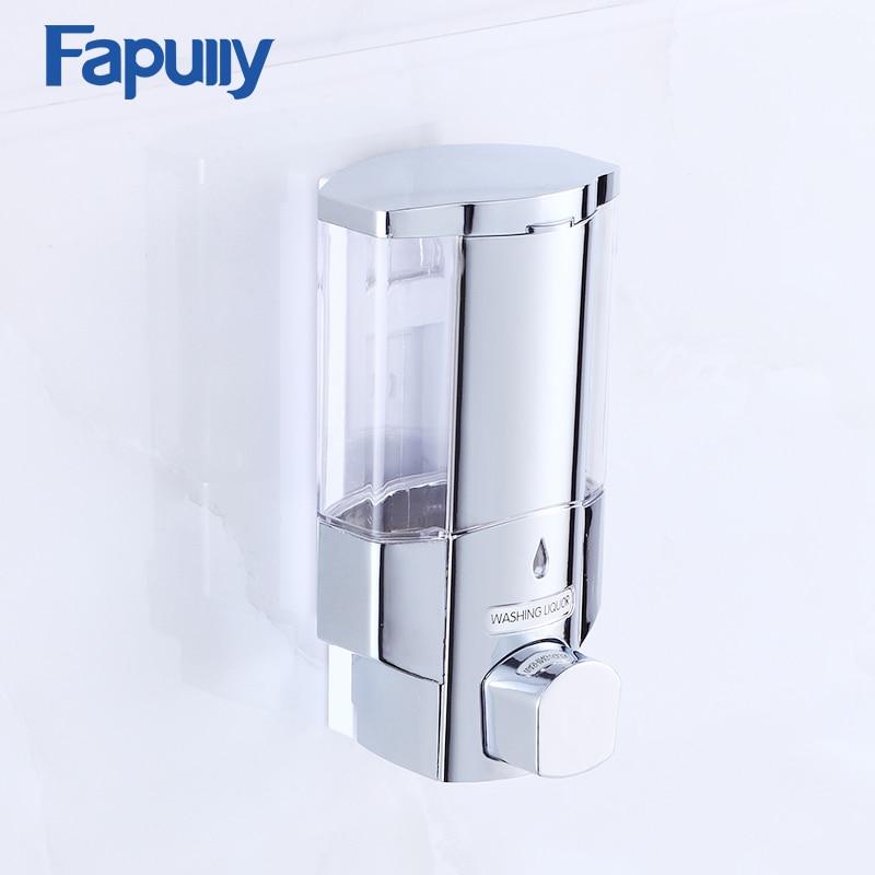Fapully Bathroom Soap Dispenser Mounted Shampoo Liquid Soap Bottle Bathroom Accessories P114-01C