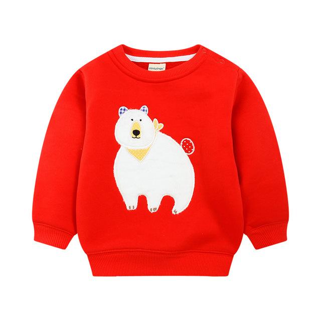 2016 Nova Crianças Vestuário de Algodão Bonito Crianças Casaco Roupas de Inverno Outono Quente Unisex Meninos Meninas Camisolas Para 3-5 anos