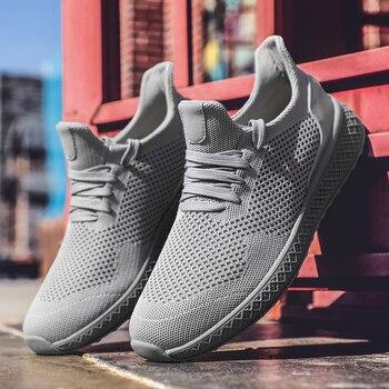 fb113f9a Zapatillas para correr para hombre 2019 verano nuevas zapatillas de hombre  con cordones bajo Top Jogging Shoes hombre calzado atlético venta  transpirable ...