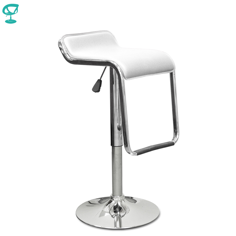 94539 Barneo N-41 Leather Kitchen Breakfast Bar Stool Swivel Bar Chair White Free Shipping In Russia