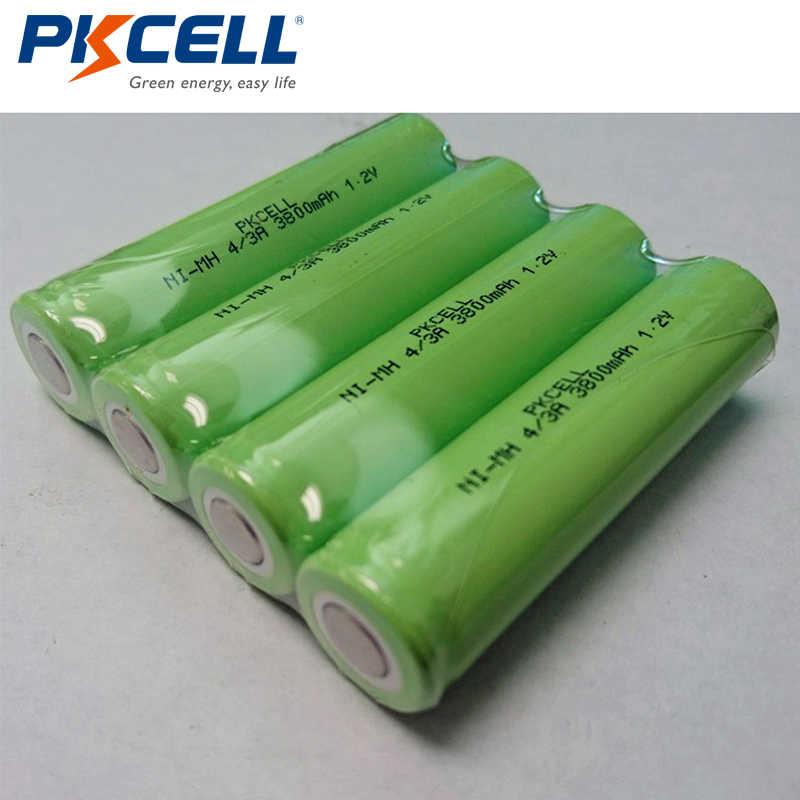 PKCELL 10 pièces/lot 1.2V 4/3A batterie Rechargeable NI-MH 17670 18670 3800mAh batterie industrielle pour souder
