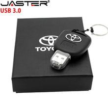 JASTER Автомобильный ключ Toyota флеш-накопитель USB 3,0 16 ГБ 32 ГБ 64 ГБ персональный флеш-накопитель USB карта памяти оригинальная подарочная коробка устройство для хранения