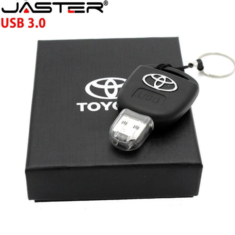 JASTER Car Key Toyota USB 3.0 Flash Drive 16GB 32GB 64GB Personalise Pen Drive USB Memory Stick Original Gift Box Storage device(China)