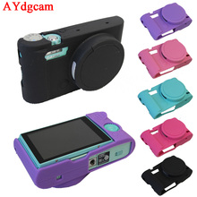 Good Delicate Digicam Video Bag For Casio ZR3500 ZR3600 ZR5500 Silicone Case Rubber Digicam case Protecting Physique Cowl Pores and skin