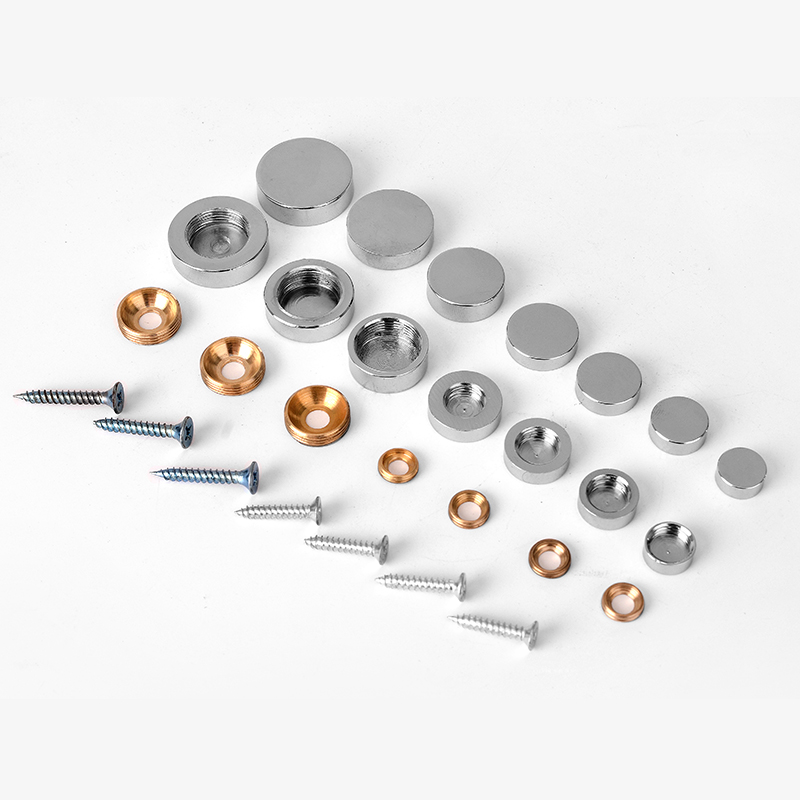 1set=8pcs! Thickened Glass Mirror Round Decorative Mirror Cap Nails Desktop Copper Cap Fasteners Hardware Accessories