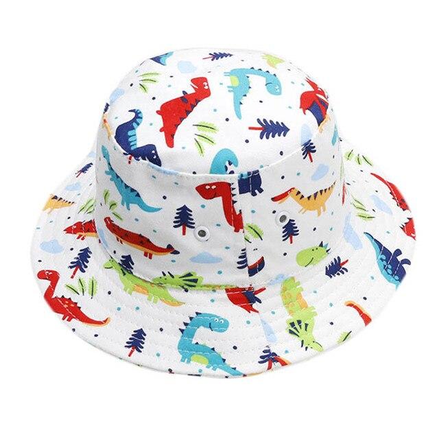 a8f2ce304d9 2018 Baby Sun Hat Spring Summer Boys Cap Bucket Hats for Girls Autumn  Cotton Baby Basin Hat Cartoon Cap for Kids Fisherman Hats