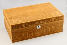 Luxury Large Capacity Cedar Wood Wooden Cigar Humidor Cigarette Cigar Storage Box with Digital Hygrometer wood
