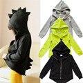 Crianças primavera Outono outerwear casaco desportivo crianças casacos meninos jaquetas casacos de moda Dinossauro Hoodead