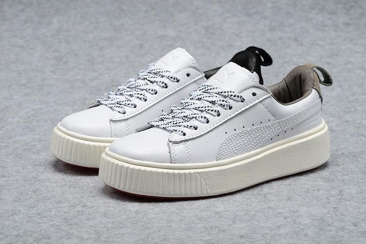 2018 PUMA Womens Basket Platform Metallic Sneaker Rihanna classic color tone simple Badm ...