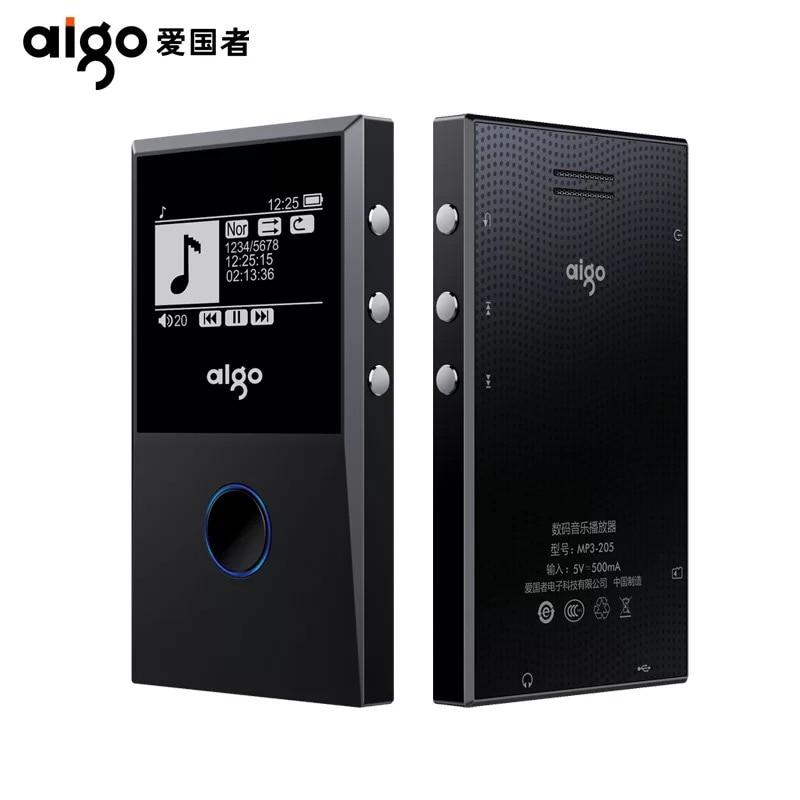 Aigo 205 MP3 HiFI lecteur bluetooth Loseless Portable enregistrement Radio FM E-Book OTG lecteur MP3 Max 64 GB Support