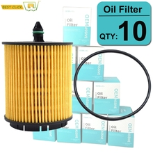 Set Of (10) 12605566 Oil Filters For Fiat Saturn Pontiac Opel Buick Cadillac Chevrolet Zafira 2000 2001 2002 2003 2004 2005 2006