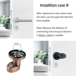 Image 5 - 亜鉛合金ステンレスバイオメトリック指紋ドアロックセキュリティシリンダードアロック防水電子ドアロック