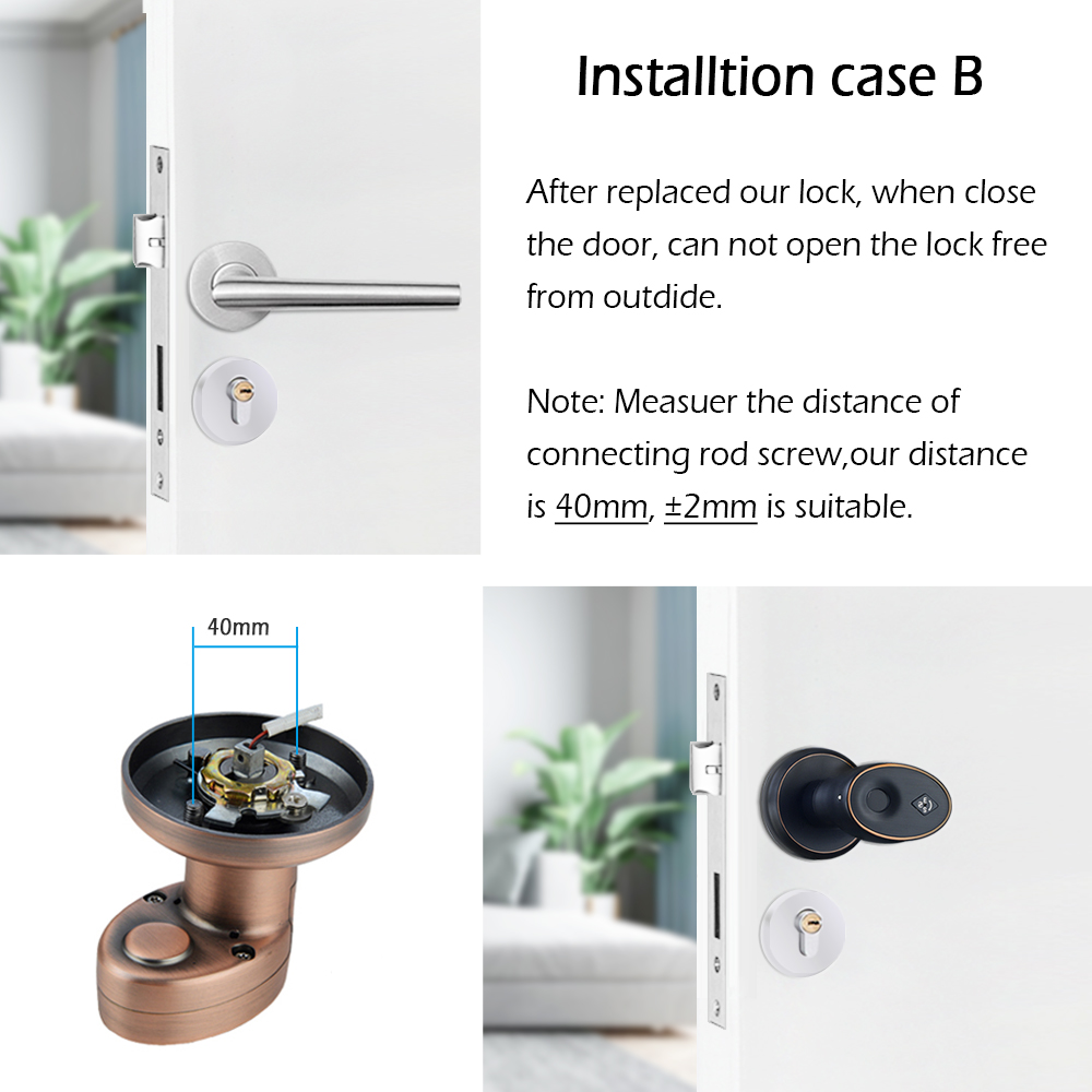 Image 5 - Zinc Alloy Stainless Biometric Fingerprint  Door Lock  Security Cylinder Door Lock   Waterproof Electronic Door Lock-in Electric Lock from Security & Protection