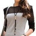 Roxi moda nueva llegada mujeres collar, salvaje Negro de Cadena Larga Rhinestone Collar de Mujer, regalos de la navidad, Los Precios Al Por Mayor