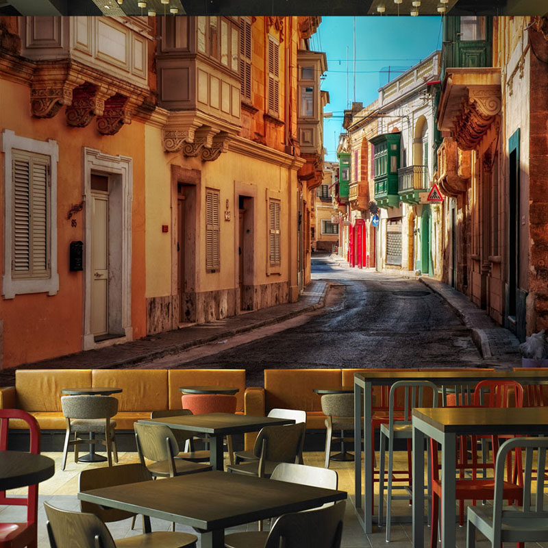 Custom Photo Wallpaper For Walls 3D European Style Street City Landscape Wall Painting Restaurant Cafe Living Room Murals Decor 3d photo wallpaper romantic bedroom 3d wall murals for living room european style town street wall murals wallpaper for walls 3d