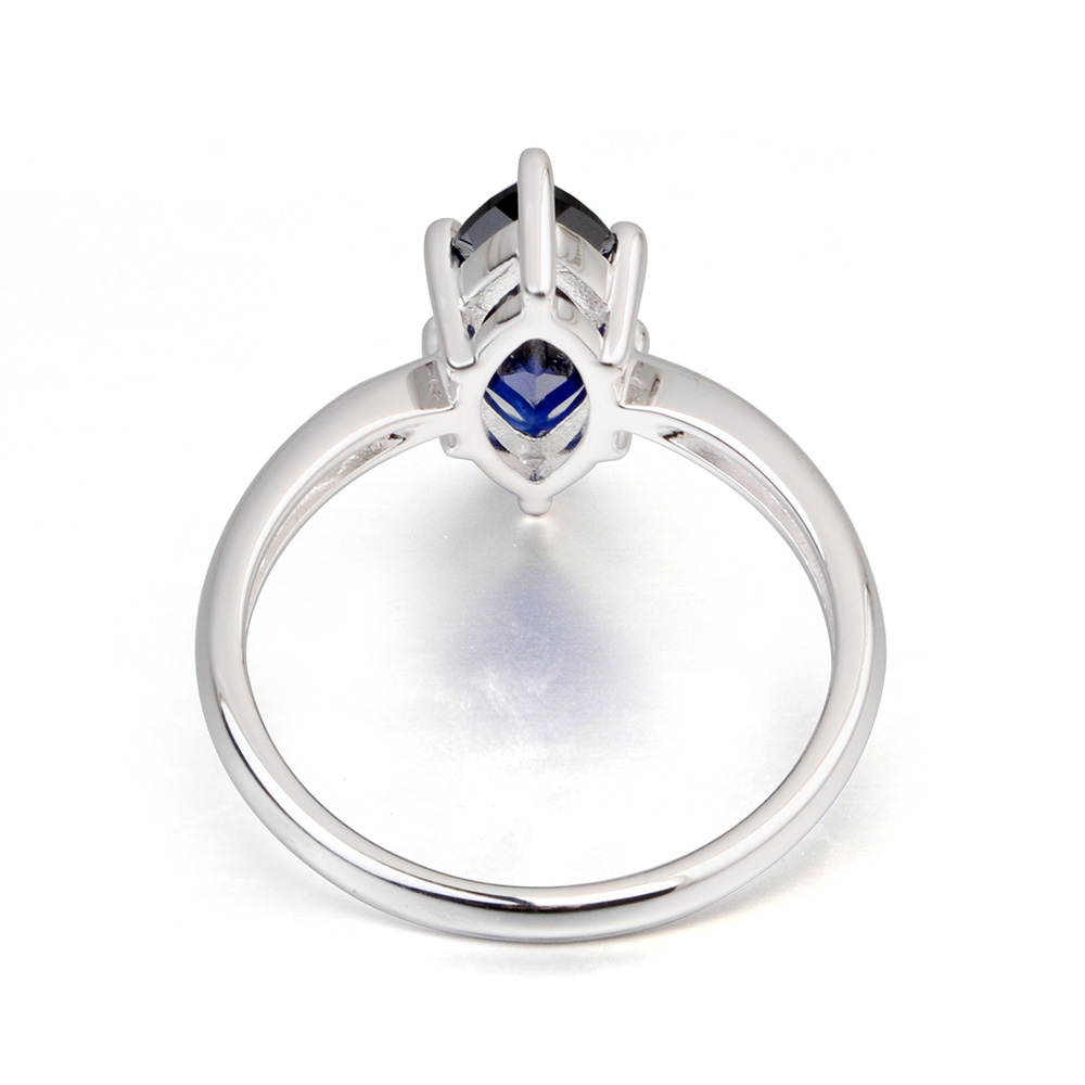 sapphire for promise silver heart ring rings sterling cut her