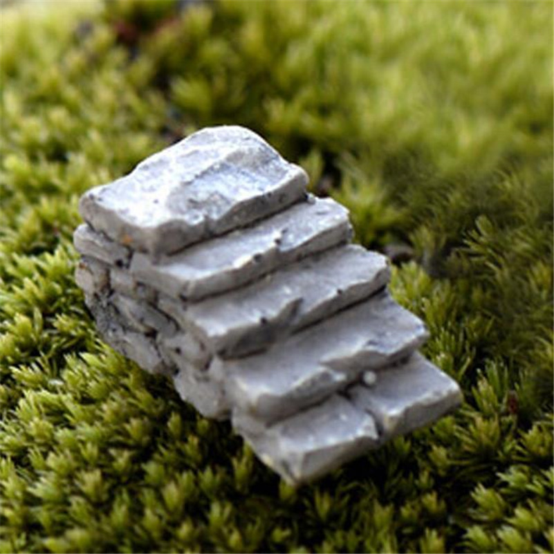 Comfortable life Miniature Stone Straight Bridge Stairs Home Decor Fairy Ornament Garden free shipping A10 wholesale