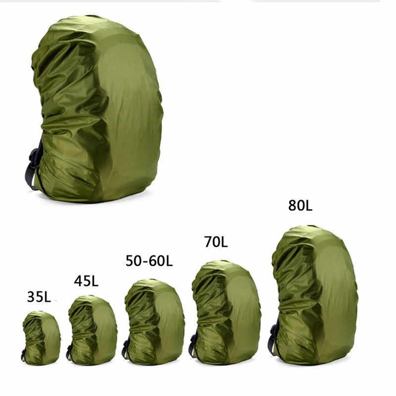 Rain Cover Ransel 35L 45L 50L-60L 70L Tahan Air Tas Camo Taktis Luar Ruangan Camping Hiking Climbing Debu Raincover Tas Olahraga