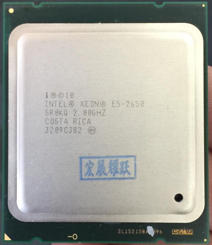 Intel Xeon Processeur E5-2650 E5 2650 CPU 2.0 LGA 2011 SROKQ C2 Octa Core De Bureau processeur 100% travail normal