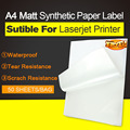 Синтетическая лазерная этикетка  бумага-50 листов A4  защита от непогоды  долговечные самоклеящиеся наклейки для принтера