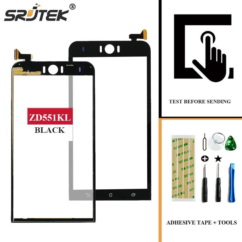Srjtek For Asus Zenfone Selfie ZD551KL Z00UD Touch Screen Digitizer Sensor Front Glass Panel Replacement Parts Black 5.5