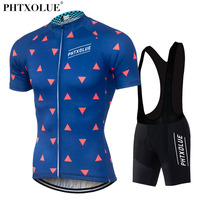 PHTXOLUE Cycling Clothing Bike Clothing Breathable Men Bicycle Wear Ropa Ciclismo Cycling Sets Short Sleeve Cycling
