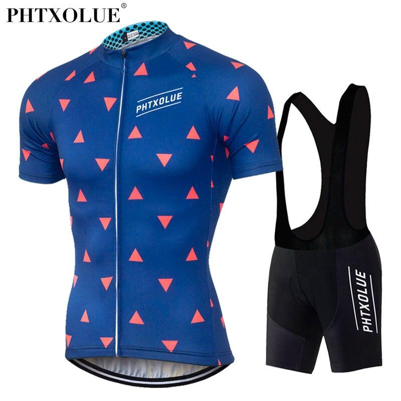 Phtxolue vestuário ciclismo bicicleta vestuário/homens quick dry respirável bicicleta ciclismo desgaste conjuntos conjuntos de manga curta ciclismo jerseys