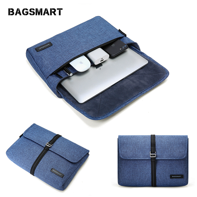 half off 91c92 e4aa5 US $19.99 |BAGSMART New Travel Bag Laptop Bag Tablet Portfolio Case for  MacBook Pro13