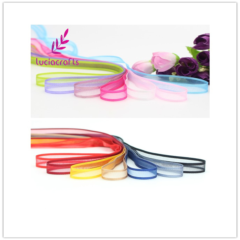 ₩Lucia artesanías multi colores opciones 10mm cinta de organza ropa ...