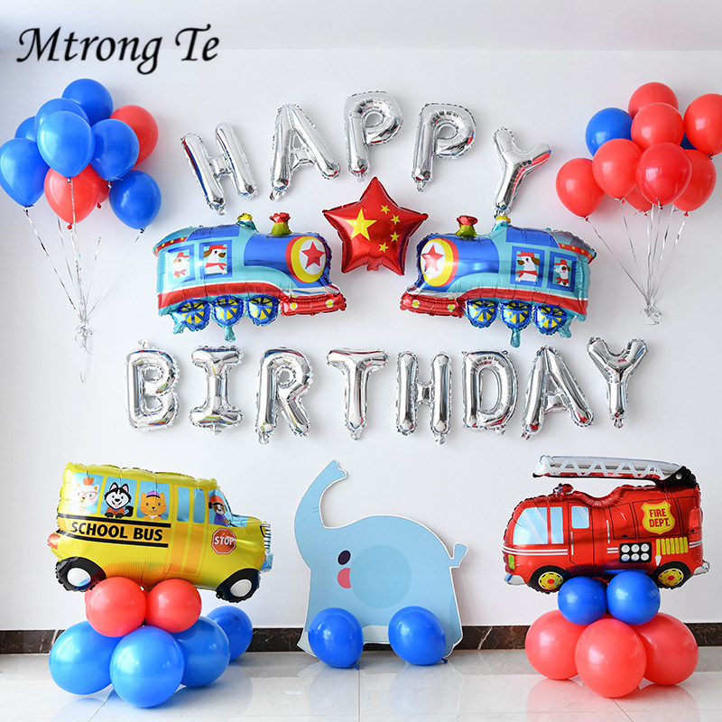 1pc Ambulance Excavator Tank Car Fire Truck Balloons Party Baloons Party Decorations Foil Balloon Birthday Party Decor Kids Toys