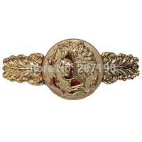 Ladies Shiny Gold Tone Queen Elizabeth Elastic Metal Dress Belt