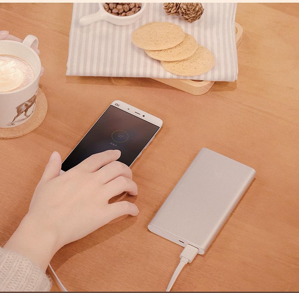 10000mah XiaoMI Power Bank 100 Original Xiao Mi Power Charger External Charger For Iphone Xiaomi Drop