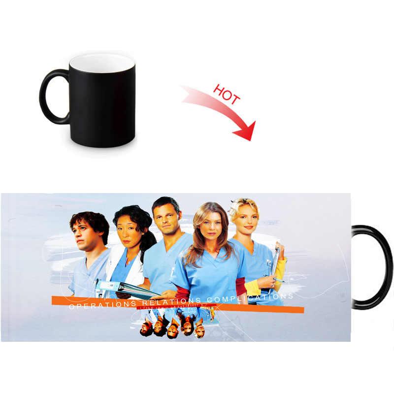 54f8109c029 Creative Magic Color Changing Mug Hot Drink Reveal Morph Mugs Grey's  Anatomy Print Milk 12oz Coffee Tea Cup Custom Gift