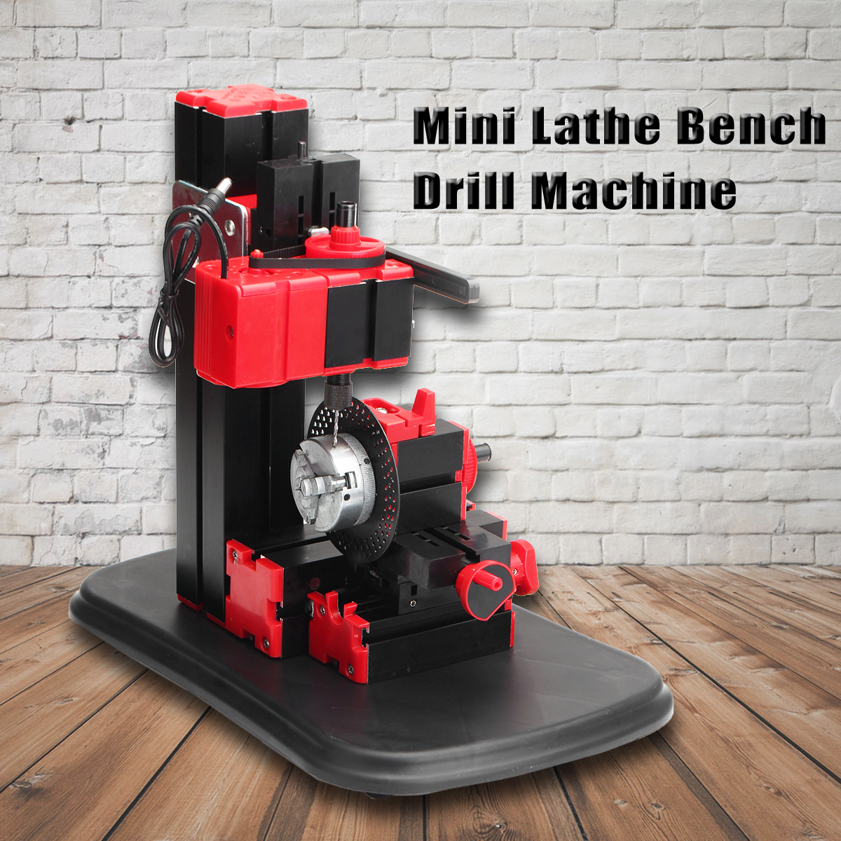 Mini Lathe Bench Drill Machine DIY Electric Drill Woodwork Model Making Tool Lathe Milling Machine Kit 110V-240V 1pcs multifunctional mini bench lathe machine electric grinder polisher drill saw tool 350w 10000 r min