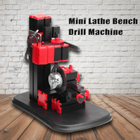 Mini Lathe Bench Drill Machine DIY Electric Drill Woodwork Model Making Tool Lathe Milling Machine Kit 110V 240V