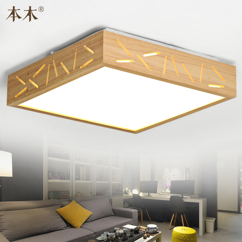 Japanese-Style Surface Mounted Oak Wood AC 110/220V LED Ceiling Lamp Sheepskin Cover Ultra-thin Tatami for Bedroom Living room japanese tatami wood led ceiling lamp simple bedroom lamps ultra thin living room ceiling lights new restaurant indoor led lamp