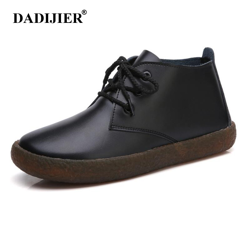 DADIJIER Women Basic Boots Leather Lace up Ladies Moccasins Short Boots Ankle Boots for Women Footwear Flats Shoes Spring FM66DADIJIER Women Basic Boots Leather Lace up Ladies Moccasins Short Boots Ankle Boots for Women Footwear Flats Shoes Spring FM66