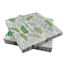 Omilut 20pcs Palm Leaves Disposable Paper Tropical Hawaiian Party Decoration Summer Supplies For Gift